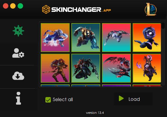 League of Legends skin changer app tool